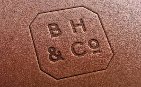 B Hemmings & Co. leather emboss